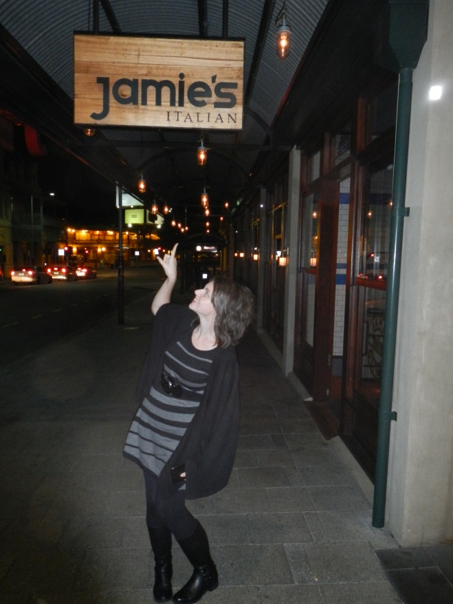 Tim took my to Jamie's for my birthday dinner!