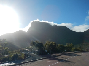 Tim's view of Bluff Knoll when he set out.