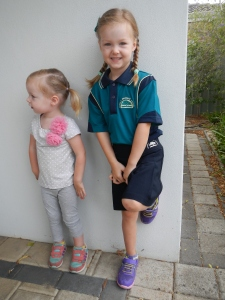 Eden on her first day of Kindy